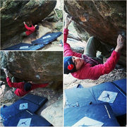 Rock Climbing Photo: In the picture, I'm one move in. The proper start ...