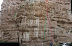 Rock Climbing Photo: The long red line