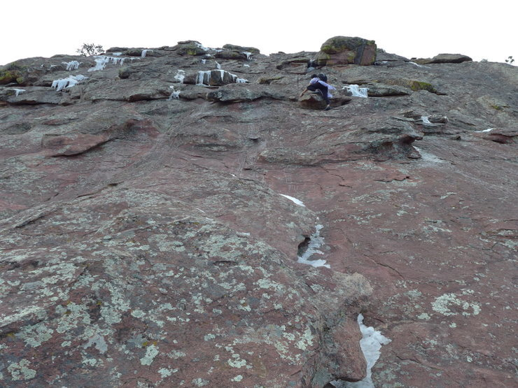 Rock Climbing Photo: First conditions on 11 Jan 2014.