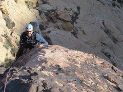 Rock Climbing Photo: Matthew, upper pitches