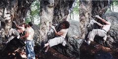 Rock Climbing Photo: M.S.D.F (Monkey S#*k D%$k F$@k). My favorite V3 at...