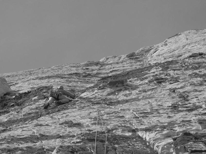 Rock Climbing Photo: Jesse heads up