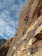Rock Climbing Photo: Approaching the handcrack