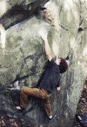 Rock Climbing Photo: Coleflesh boulder sloper problem V2