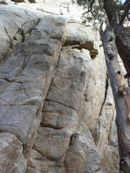 Rock Climbing Photo: The climb is right in the center.