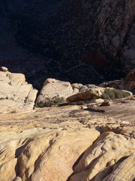 Rock Climbing Photo: looking down on P4; another party is at the top of...