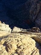 Rock Climbing Photo: looking down on Oak Creek Canyon