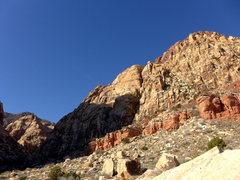 Rock Climbing Photo: approaching Solar Slab area