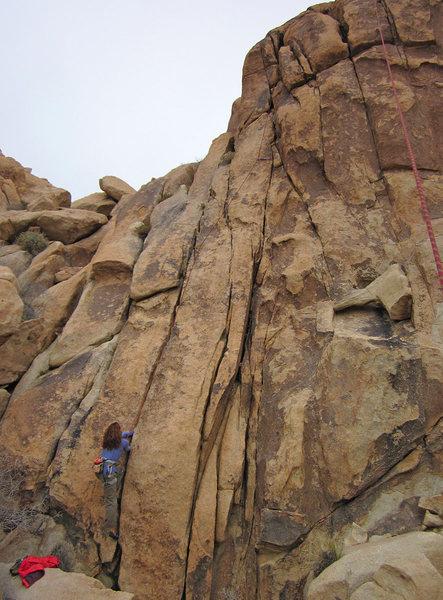 Rock Climbing Photo: Susan following