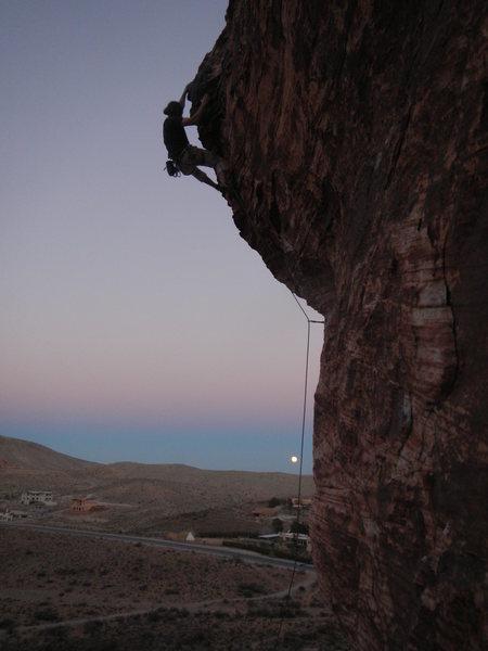 Full moon rising on HABWF.