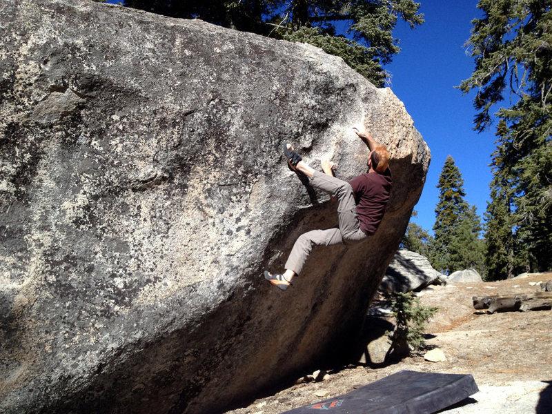 Rock Climbing Photo: Ivan on Problem A