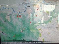 Rock Climbing Photo: Map available at Higashizushi station.  Head up th...