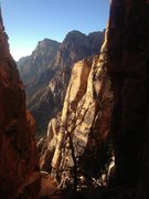 Rock Climbing Photo: Really pretty view in the morning from the notch b...