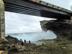 Rock Climbing Photo: Underneath Glass Window Bridge.