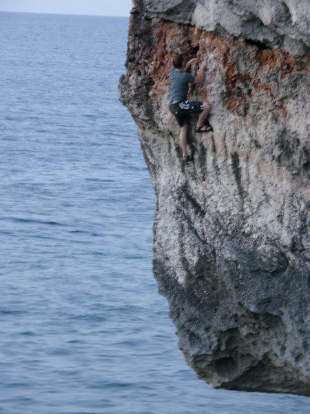 Climbing Abraham's Arete.