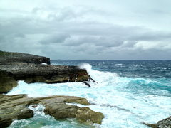 Rock Climbing Photo: The Queen's Baths getting pummeled by the Atlantic...