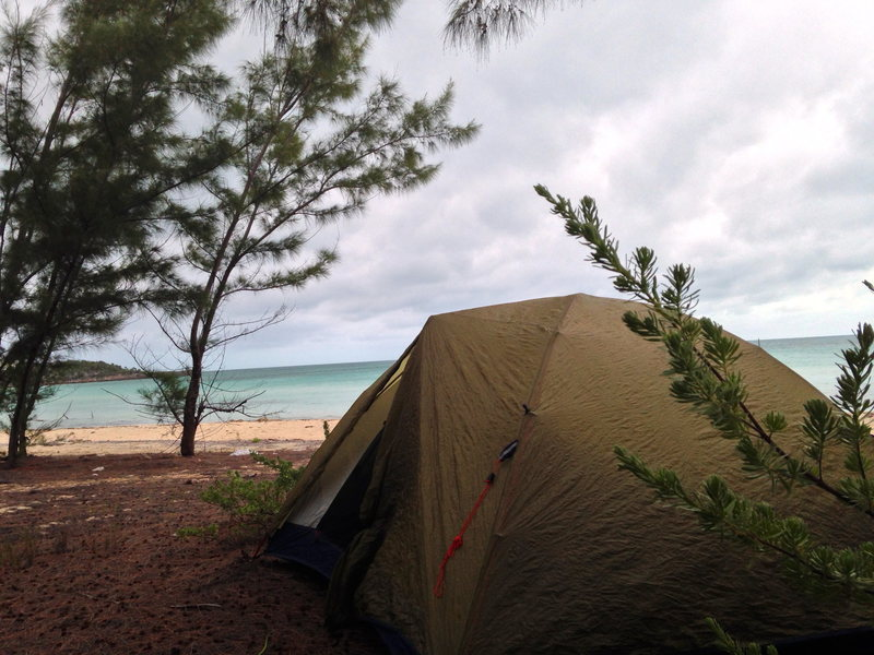 Rock Climbing Photo: Great camping spot on the Caribbean side of the ro...