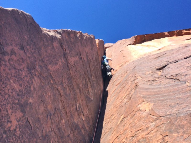 Rock Climbing Photo: What a pretty corner/crack that just goes on forev...
