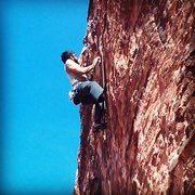 Rock Climbing Photo: Cujo 5.11d Red Rocks Mostafa Noori