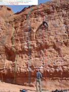Rock Climbing Photo: Right-central detail:Farmer's Tan through Dirtbag ...