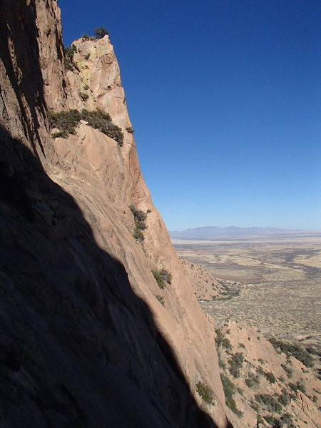 Rock Climbing Photo: Good view of the final, spectacular arête of Full...