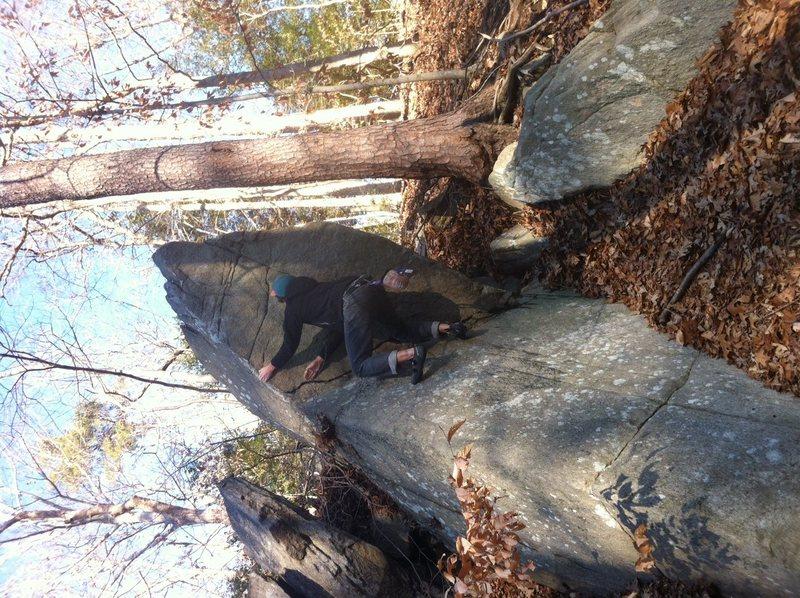 Rock Climbing Photo: Fun moves near the top