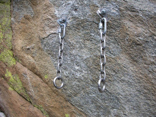 Rock Climbing Photo: 2 bolt, rapid link, chains, rap rings