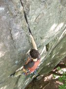 Rock Climbing Photo: Me jamming the awesome upper crack on my first tra...