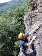 Rock Climbing Photo: Joe toproping Mowgli Grape