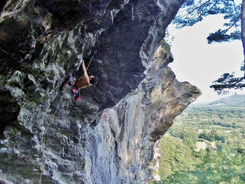 Rock Climbing Photo: My first time on Orangahang