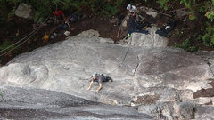 Rock Climbing Photo: !st pitch of ChewBacca's. Squamish, BC