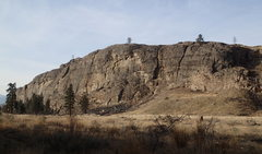 Rock Climbing Photo: South Canyon in mid-January from the NE (from the ...