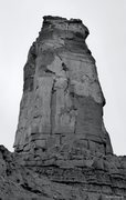 Rock Climbing Photo: The North Face of Castleton Tower