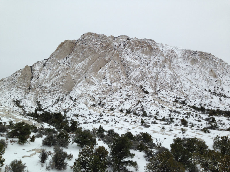 Crystal Peak in the snow.