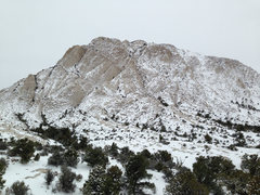 Rock Climbing Photo: Crystal Peak in the snow.