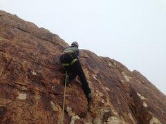 Rock Climbing Photo: Fog March