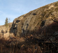 Rock Climbing Photo: East Side Slab section of the West face of the Lit...