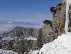 Rock Climbing Photo: McLaughlin Ice in mid January 2013.