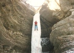 Rock Climbing Photo: Pontiac canyon, about '94, weeks before it fell do...