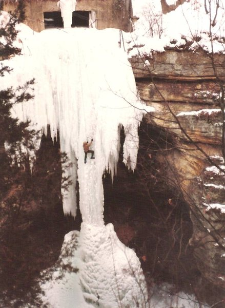 Early 80's, one of the first climbs of the 'Snake',(also called the Fang by the uninformed), in Tonti Canyon.