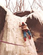 Rock Climbing Photo: One of the early leads on Ottowa, in early 80's wi...