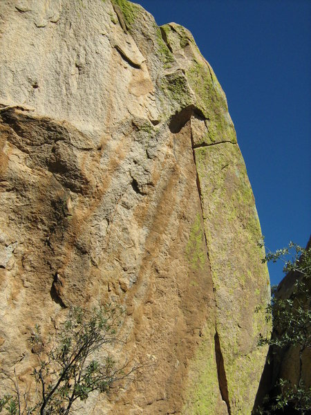Rock Climbing Photo: Dominatrix--crux finger crack