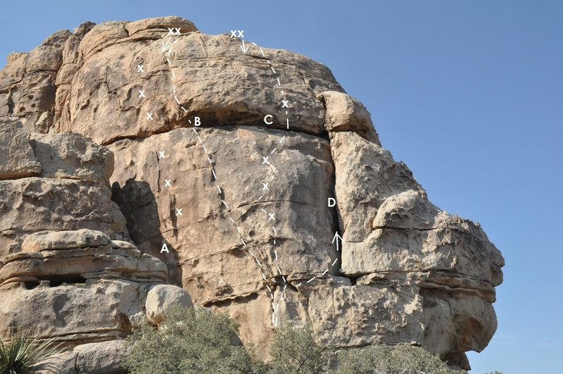 Rock Climbing Photo: Cereal Rock, Northeast Face  A. Coco Puff 5.10b or...