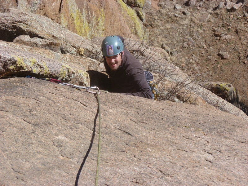 A closer view, on the first pitch crack.