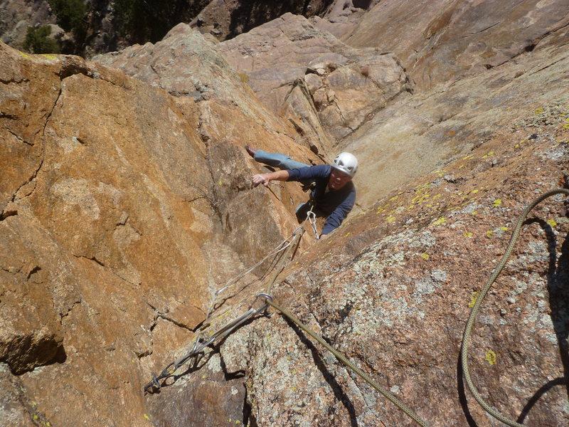 Rock Climbing Photo: On the third pitch.