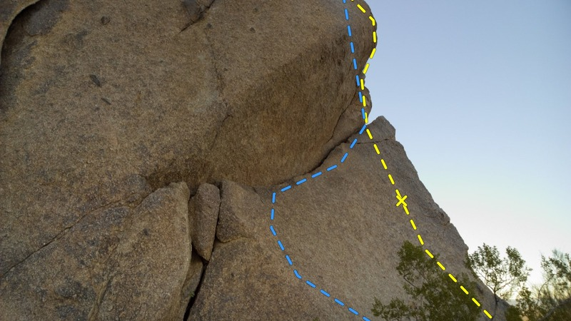 Rock Climbing Photo: This is the alternate start to this route up to th...