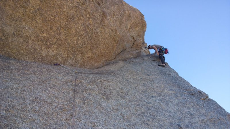 Followed the horizontal crack to the horn.  You can protect the crack with a single @POUND@4 or @POUND@5.