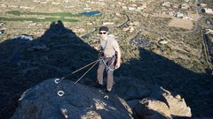 Rock Climbing Photo: The summit, ridiculously awesomely huge rap bolts ...