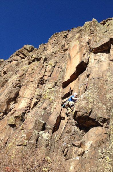Rock Climbing Photo: Fun, engaging climbing.