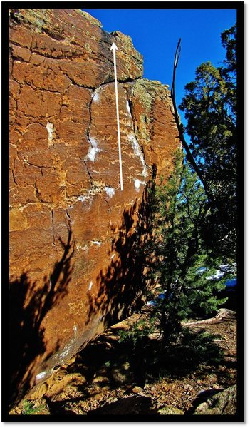 Rock Climbing Photo: Straight Laced problem beta.